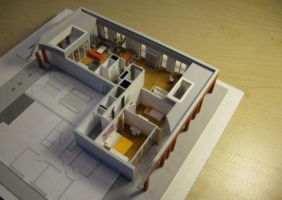 Ingericht appartement 1:100
