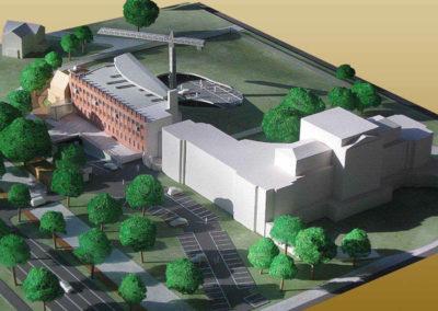 Logistiek plan uitbreiding provinciehuis  Haarlem schaal 1:200
