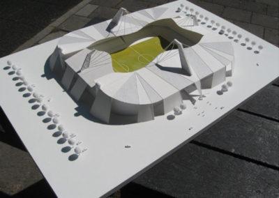 voetbalstadion t.b.v filmopname schaal 1:200